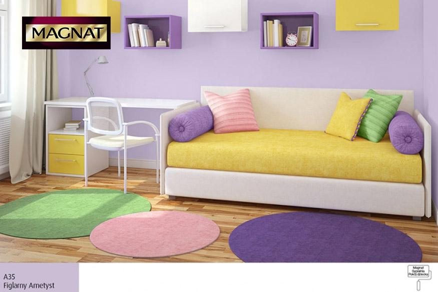 Urzekające fiolety w otoczeniu kolorów tęczy