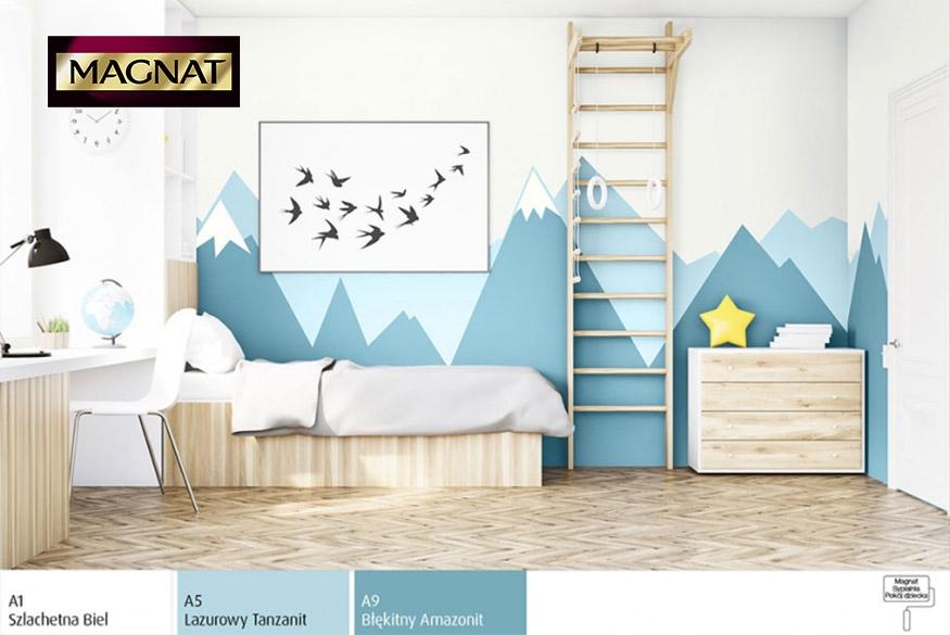 Pokój dziecka w różnych odcieniach błękitu